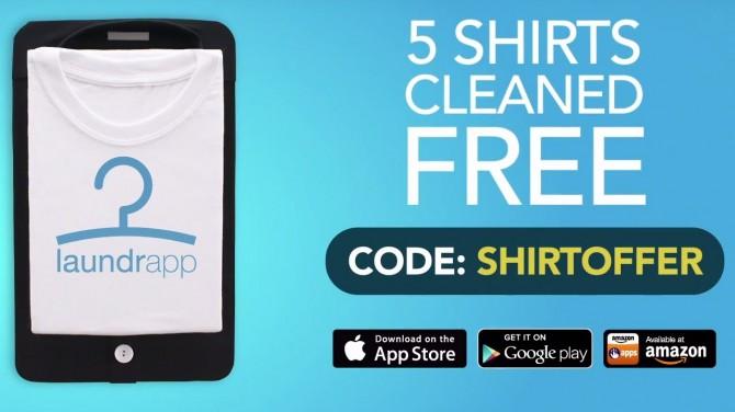 Laundrapp UK TV Ad - Get 5 Shirts for Free!