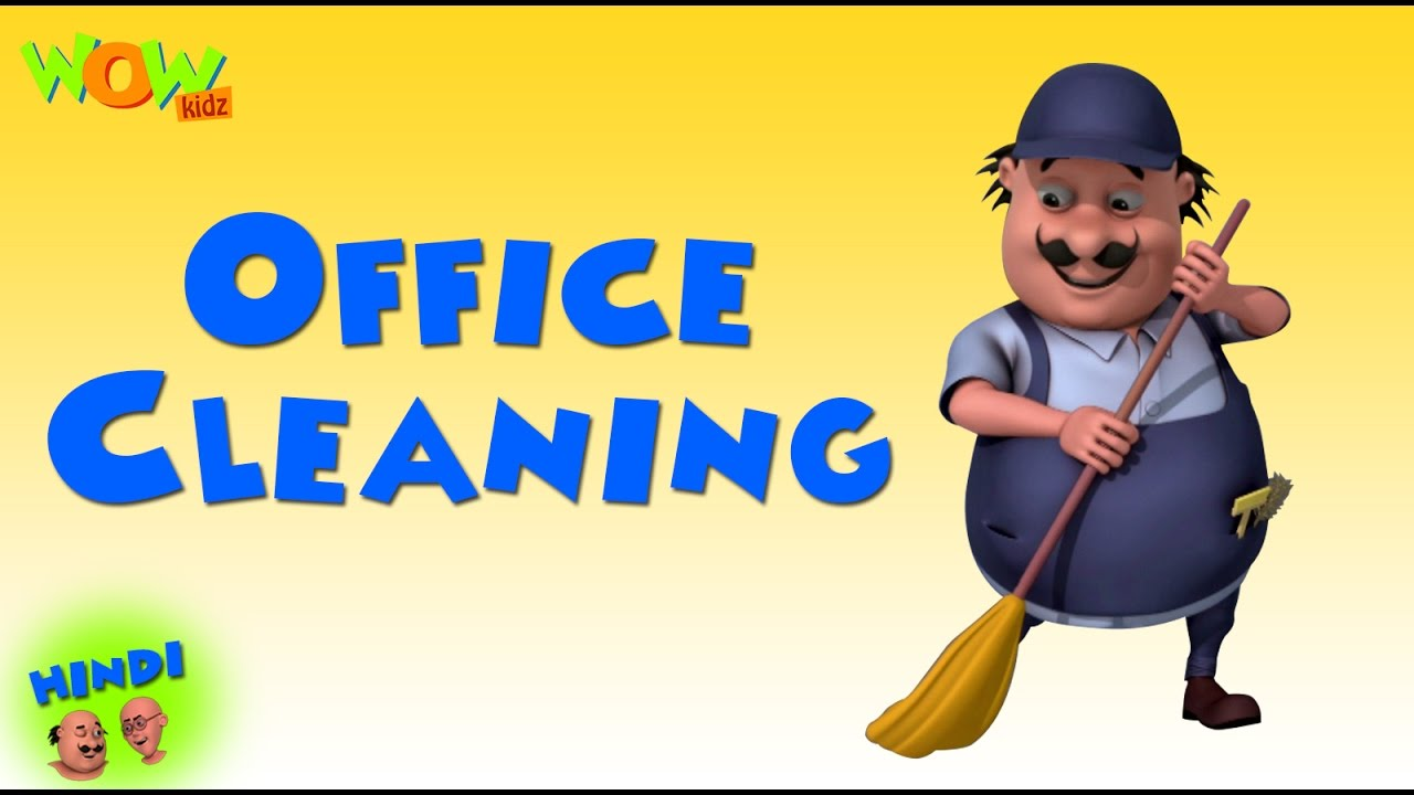 Office Cleaning Motu Patlu In Hindi 3d Animation Cartoon For