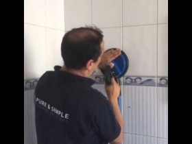 Commercial cleaning -Bathroom tiles – Pure and Simple Cleaning Solutions Ltd.