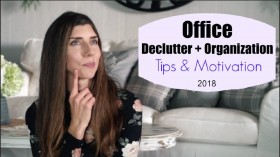 10 OFFICE DECLUTTER & ORGANIZATION TIPS | CLEANING MY LIFE | Momma from scratch