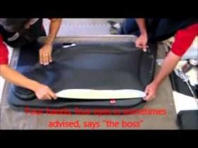 How to upholster a car door panel
